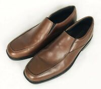 Bostonian Mendon Mens Brown Leather Casual Dress Slip On Loafers Shoes 9
