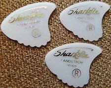 Landstrom Sharkfin Gold Letter Guitar Picks from Swede 3 Picks  ( Light )
