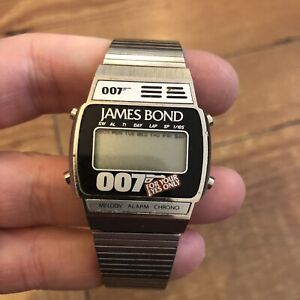 Vintage Rare James Bond For Your Eyes Only Wrist Watch Spares Repairs NOT WORKIN