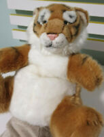 National Geographic Tiger Cub Hand Puppet Plush Toy 25cm Tall!