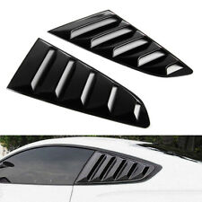 Pair ABS Plastic Rear Side Window Louver Scoop Cover For Ford Mustang 15-17+