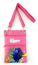 Disney's Finding Dory Crossbody Hipster Bag Purse Passport ID Badge Holder Pink