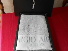 BRAND NEW BOXED 100% GENUINE GIORGIO ARMANI 100% COTTON GREY BATH / BEACH TOWEL