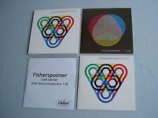 FISCHERSPOONER job lot of 4 promo CD singles Just Let Go Never Win Benny Benassi