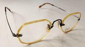 Oliver Peoples OP-19 RX Eyeglasses Brown Havana / Pewter Made in Japan RARE
