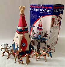 Papo Indians Bundle Native Americans with Figure, Tipi, Totem Pole & Box