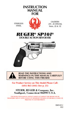 Ruger Sp101 Double Action Revolvers Owners Manual