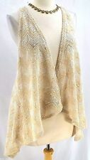 DAYTRIP THE BUCKLE Bouncle Shabby OPEN FRONT SLEEVELESS VEST fly chic top SZ XL