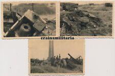 3x Orig. Foto zerstörtes Fort LONCIN Festung Lüttich Liège Belgien 1938