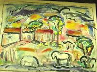 Ivan Rane & Bill Rane Taos Painting Study of Horses & Oil Paint Sticks