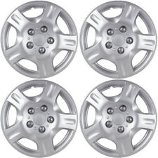 "4 PC Hubcaps Fits Select Auto 15"" Silver Replacement Wheel Rim Skin Cover"