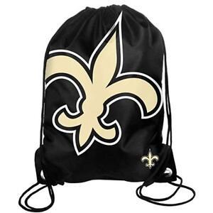 New Orleans Saints Back Pack Sack Drawstring Bag Tote NEW Backpack BIG LOGO