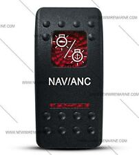 Labeled Contura II Rocker Switch COVER ONLY, Nav/Anc (2 RED lens)