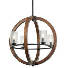 Kichler Grand Bank Chandelier 4Lt, Auburn Stained, Clear Seeded - 43185AUB