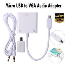 MHL Micro Usb A Vga Y Adaptador De Audio Cable Conector Para Samsung HTC Sony LG