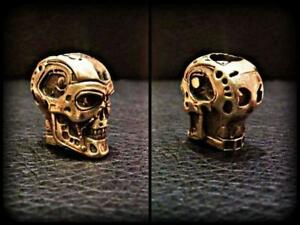 Terminator Paracord Bracelet Bead Solid Bronze Handmade Lanyard Beads Knife Tool