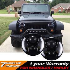 "Firebug 7"" LED Projector Headlights For Jeep Wrangler, 7"" Side Halo Headlights"