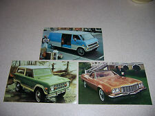 1974 74 FORD BRONCO RANCHERO ECONOLINE VAN DEALER POSTCARD LOT