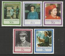 PAPUA NEW GUINEA 1986 QUEEN ELIZABETH II 60th BIRTHDAY 5v MNH
