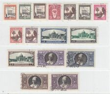 VATICAN 1933  ISSUE USED FULL SET SCOTT 19/34  = SASSONE 19/34