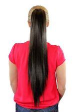 Extension, Postiche, marron, TRESSE, clip papillon, lisse, long, 65cm, xf-6464-8
