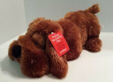 2009 Gund Fun Animated Droopy the Snoring Dog Movement Sounds Basset Hound