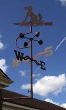 ADORN DOG WEATHERVANE WITH WALL MOUNT APPROX OVERALL HEIGHT 90CM