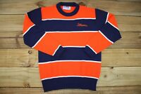 VTG 80s Illinois Fighting Illini Acrylic Crewneck Sweatshirt M Marlomar Made USA