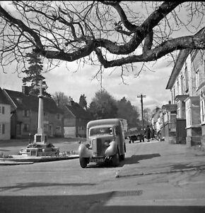 B/W 6x6 Negative Bletchingley Surrey Car in Street 1951 + Copyright DB503