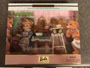 NIB Mattel Barbie Collector Edition Goldilocks and the Three Bears 2000