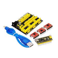 Compatible 3D Printer Kit for Arduino CNC Shield V4+Nano 3.0+A4988 Driver GRBL