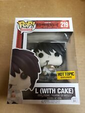 Funko Pop L with Cake Death Note Hot Topic Exclusive