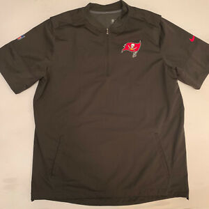 NWOT Nike NFL On Field Tampa Bay Buccaneers Bucs 1/4 Zip Pullover Sz XL S/S New