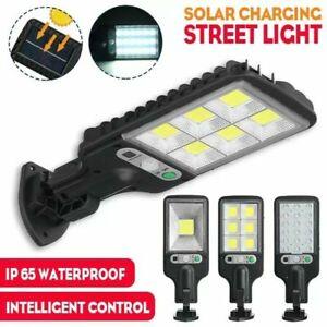 600W Outdoor Solar Street Wall Light PIR Motion Sensor LED Pathway Lamp IP65