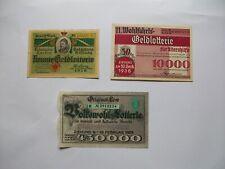 3 Lose Wohlfahrts Geld Lotterie Königin Carola1919 Sachsen Gedächtnis Stiftung +