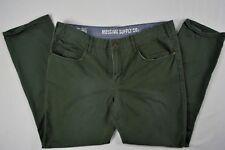Mossimo Supply Co Men's Slim Straight Dark Green 100% Cotton Pants size 38 X 30