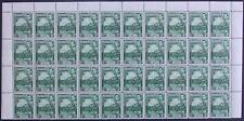 More details for grenada-1938-50 ½d blue-green perf 12½ block of 40 sg 153a unmounted mint v41808