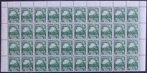 GRENADA-1938-50 ½d Blue-Green Perf 12½ Block of 40 Sg 153a UNMOUNTED MINT V41808