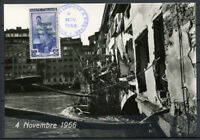 Italia 1966 Cartolina Maximum 100% Firenze Alluvione, ponte