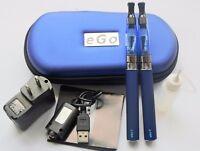 2 Pack 1100mah Vape 2eGo-t Battery Pen Tank Starter Kit + Accessories