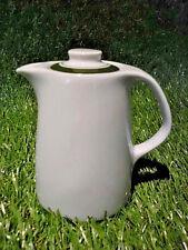 DDR KaffeeKännchen kleines kanne grün weiß Rationell Mitropa Porzellan 0,3 Liter