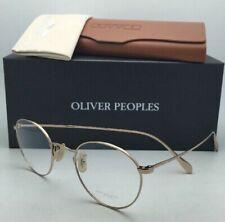 Classic OLIVER PEOPLES Eyeglasses COLERIDGE OV 1186 5145 47-22 Gold Round Frames