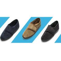 Men's Diabetic  Arthritis Memory Foam Slippers Edema Adjustable Shoes W/