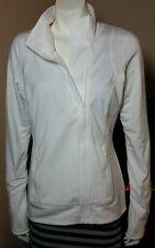 $54NWT Hind Dry Lete White Moisture Wick UV Protection Asymmetrical Zip Jacket M