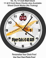 PIPER CUB J-3 40 ARF AIRPLANE WALL CLOCK-FREE USA SHIP!