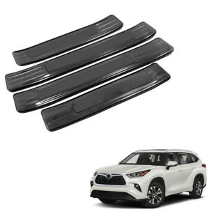 For Toyota Kluger 2021 Black Outer Door Sill Cover Threshold Bar Protector 4PCS
