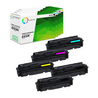 5PK TCT Premium 055H BCMY High Yield Compatible Toner Cartridges For Canon
