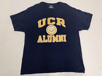 Men's University California Riverside UCR Alumni T-Shirt Sz XL S/S Champion Navy