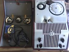 Vntg Electronic Webster-Chicago Model 80-1 RMA 375 Wire Recorder W Mic&powerCord