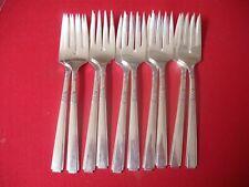 (10) 1881 Rogers Silverplate Salad Forks, 1935 Capri   #16